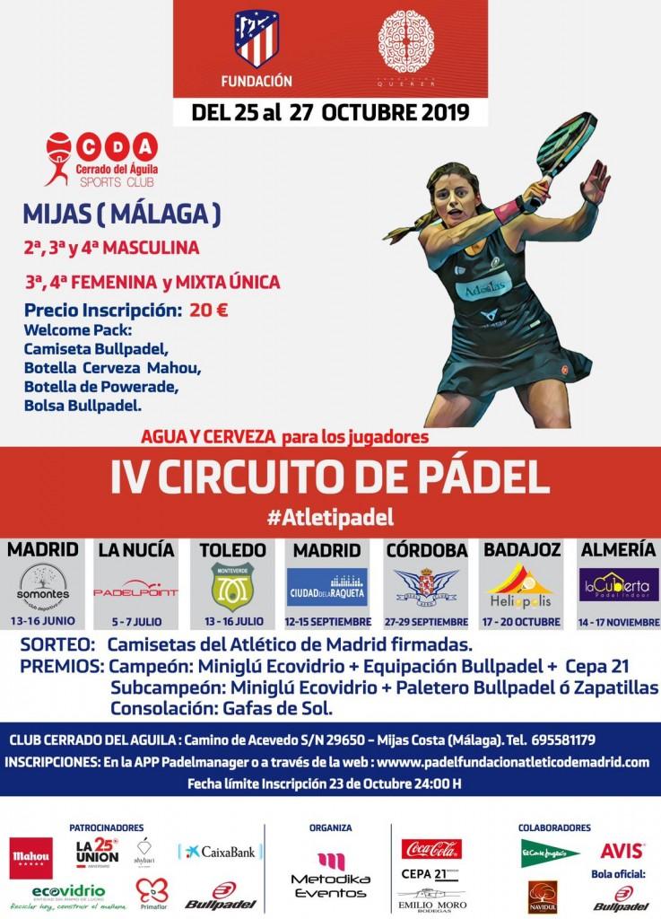 IV Circuito de Padel Fundación atlético de Madrid Sede