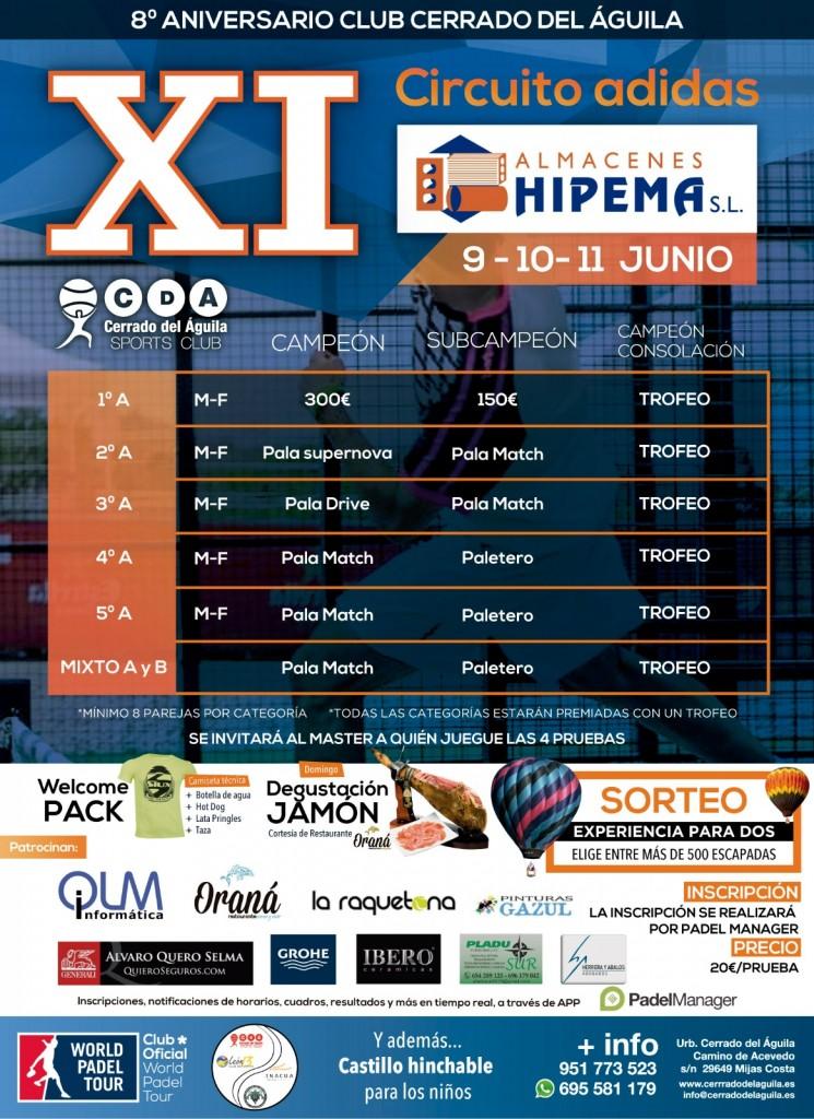 circuito adidas cerrado del águila XI torneo almacenes hipema
