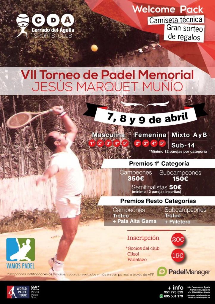 Septimo Torneo pádel memorial Jesús Marquet Muñio Club Cerrado del Águila