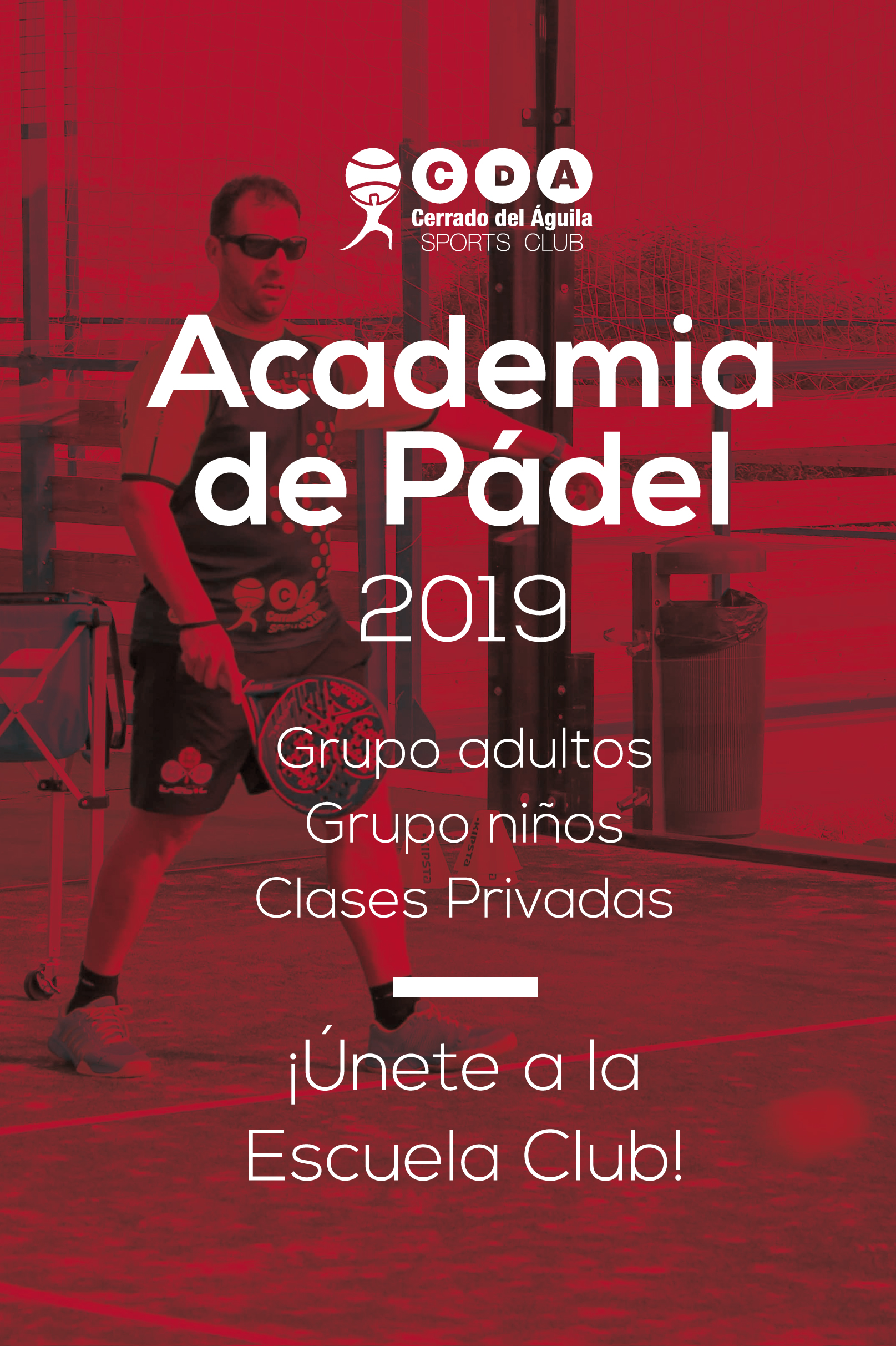 Academia de pádel Cerrado del Águila. Clases de pádel.