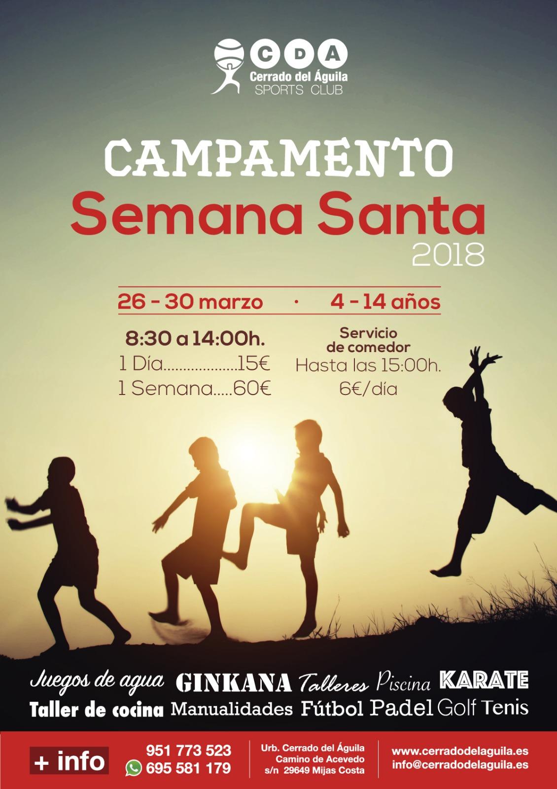 Campamento Semana Santa Cerrado del Águila 2018