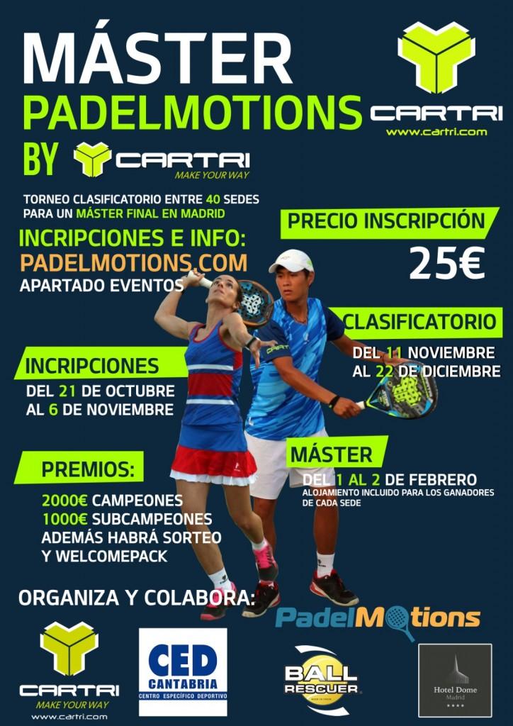Cartel Master Padelmotions by Cartri Club Cerrado del Águila