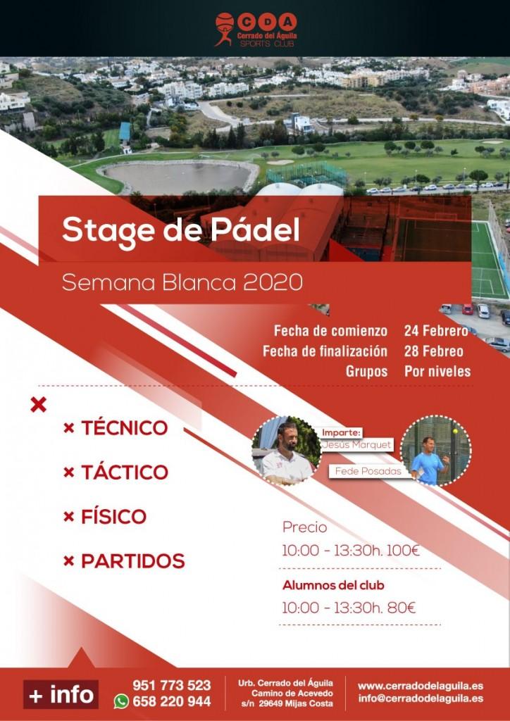 Stage Padel Semana Blanca 2020 club cerrado del aguila