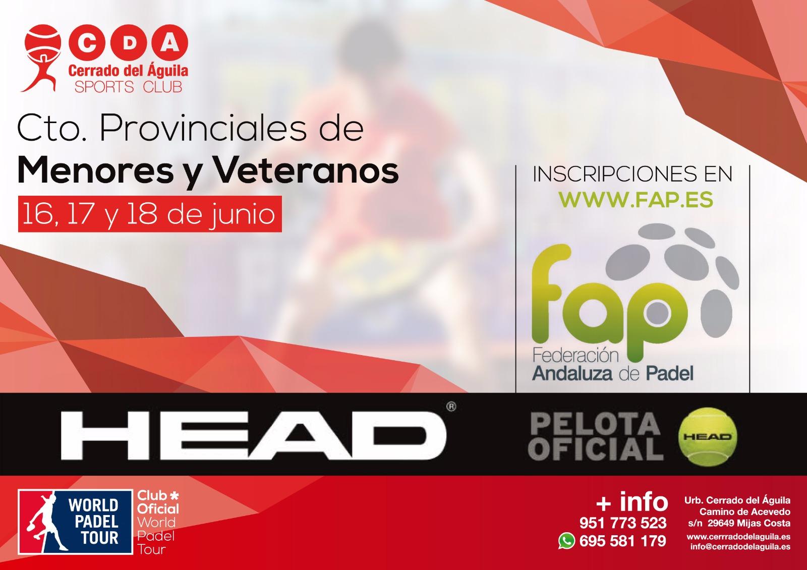 campeonato provincial menores y veteranos