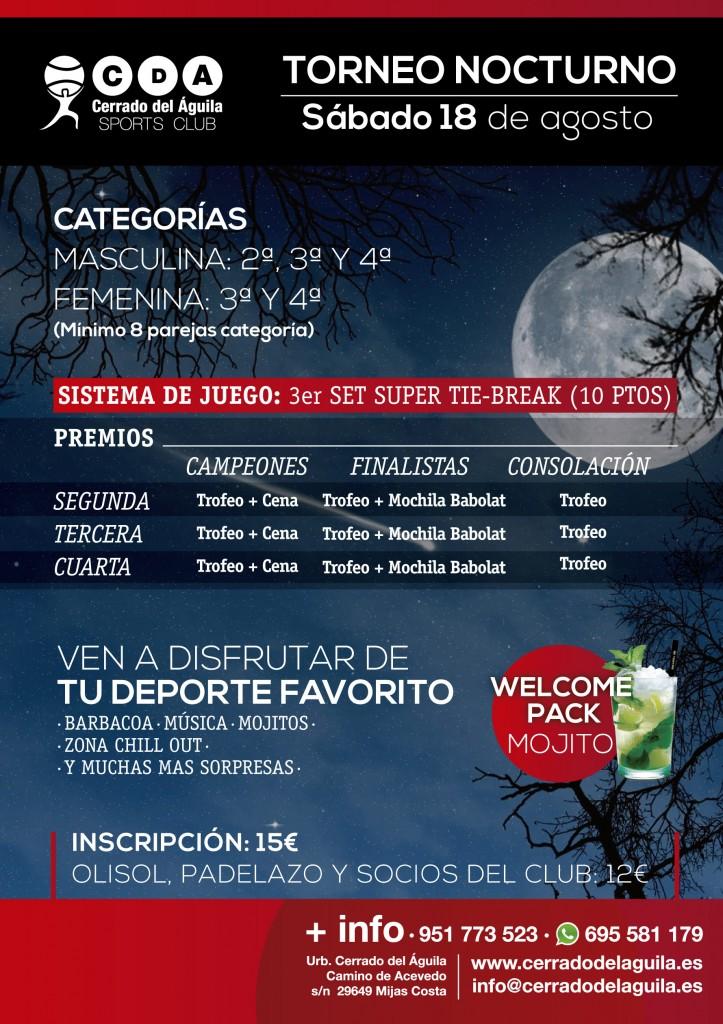 Torneo de Pádel nocturno Cerrado del Águila 2018